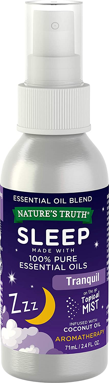 Nature's Truth Sleep Essential Oil Spray | 2.4 oz | 100% Pure Essential Oil | Topical Mist Blend | Tranquil, Resting, Calming