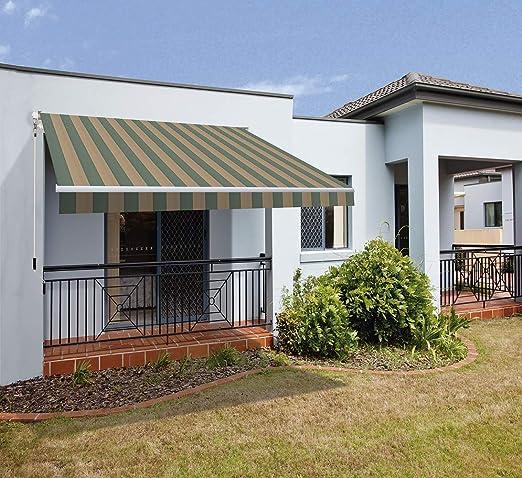 SmartSun Classic Toldo Completo 4x2, 5m Color Verde Tostado Lona poliéster. Toldo terraza, jardín, Balcon: Amazon.es: Jardín