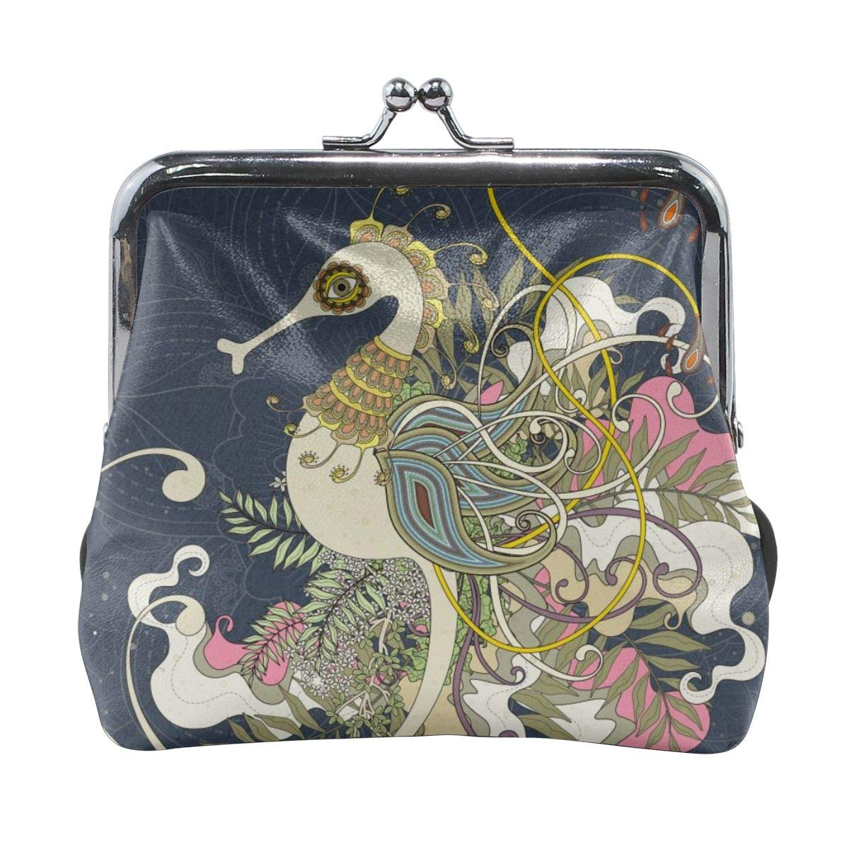 Fashion Ethnic Phoenix Credit Cards Buckle Coin Purse For Womens