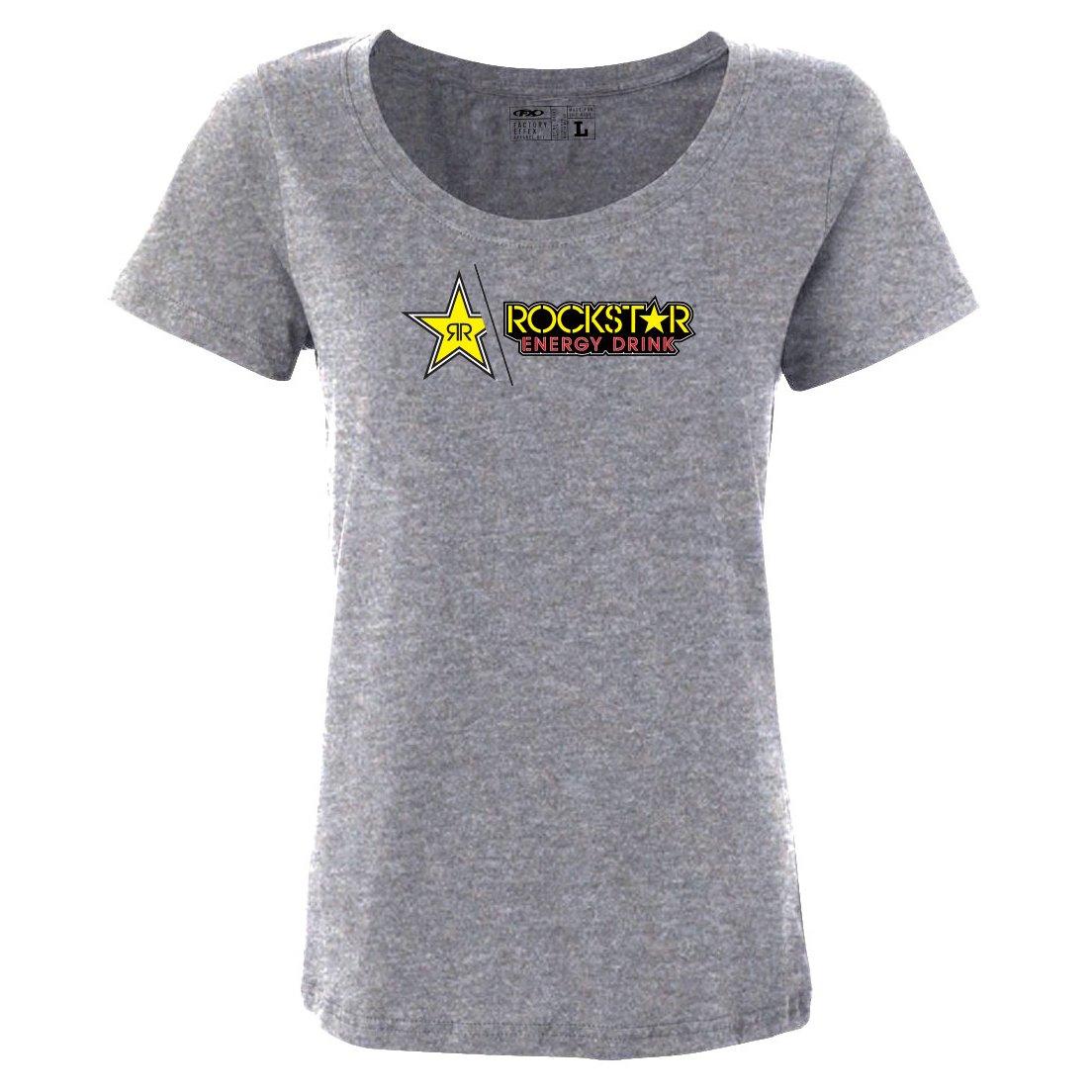 Black, X-Large Factory Effex Rockstar Split Womens T-Shirt 17-87664
