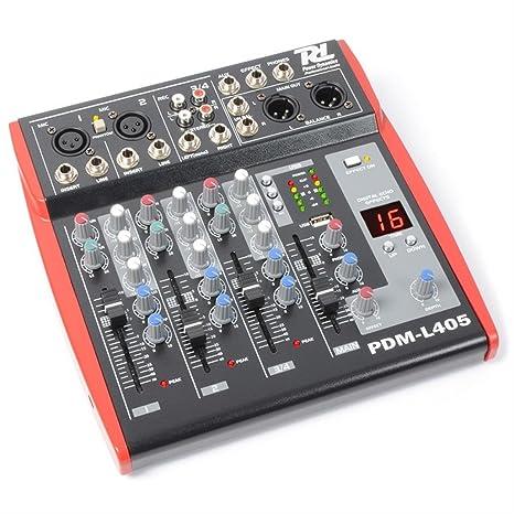 Power Dynamics PDM de L405 Bühnen Licuadora mesa de mezclas de 4 ...