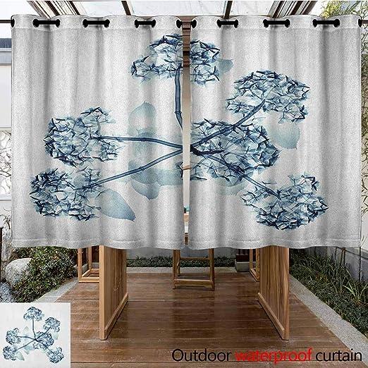 AndyTours - Cortina de pérgola con Efecto de Pintura de Acuarela, diseño de Flores de árbol: Amazon.es: Jardín