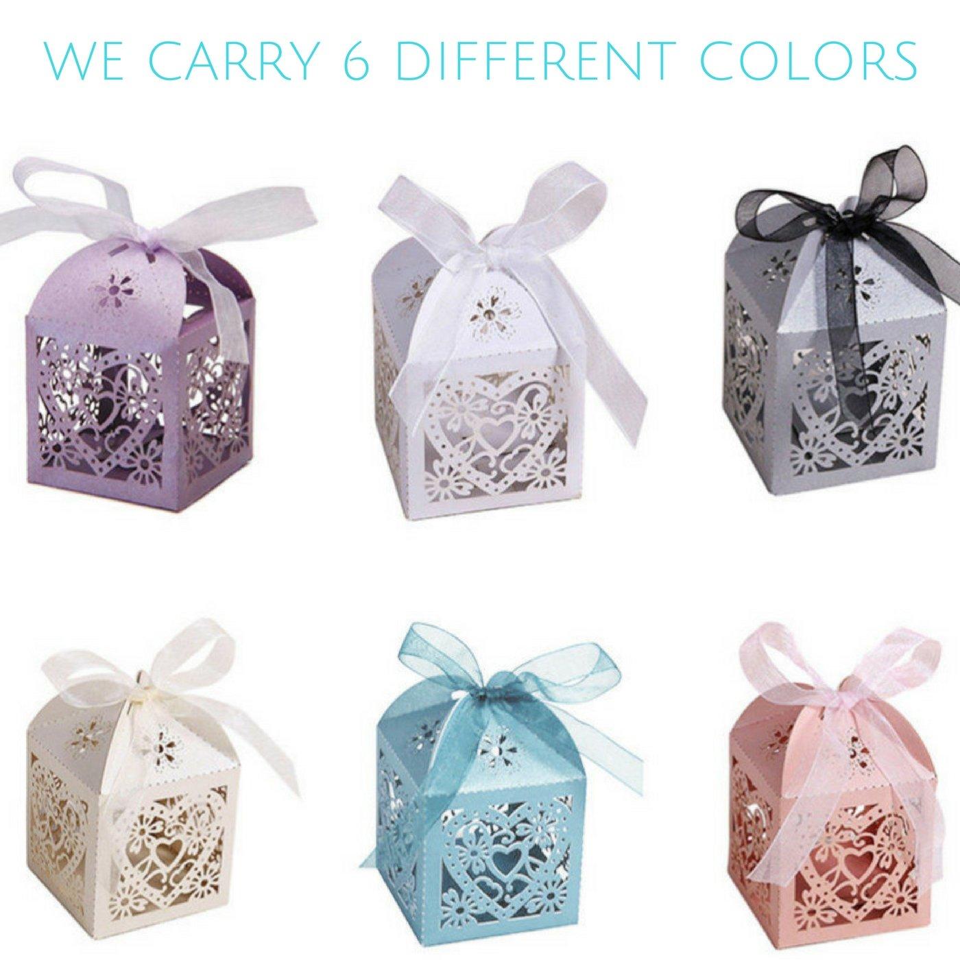 Amazon.com: Modelo Decor Boxes For Party Candy - Wedding Favor ...
