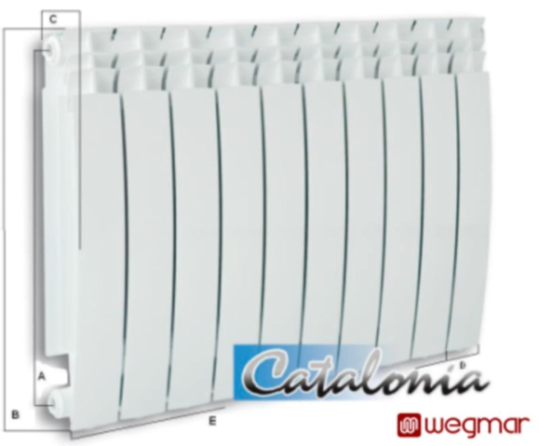 De aluminio radiador de calefacción radiadores planos de colour blanco de segmentos Catalonia500/10 segmentos (costillas): Amazon.es: Bricolaje y ...