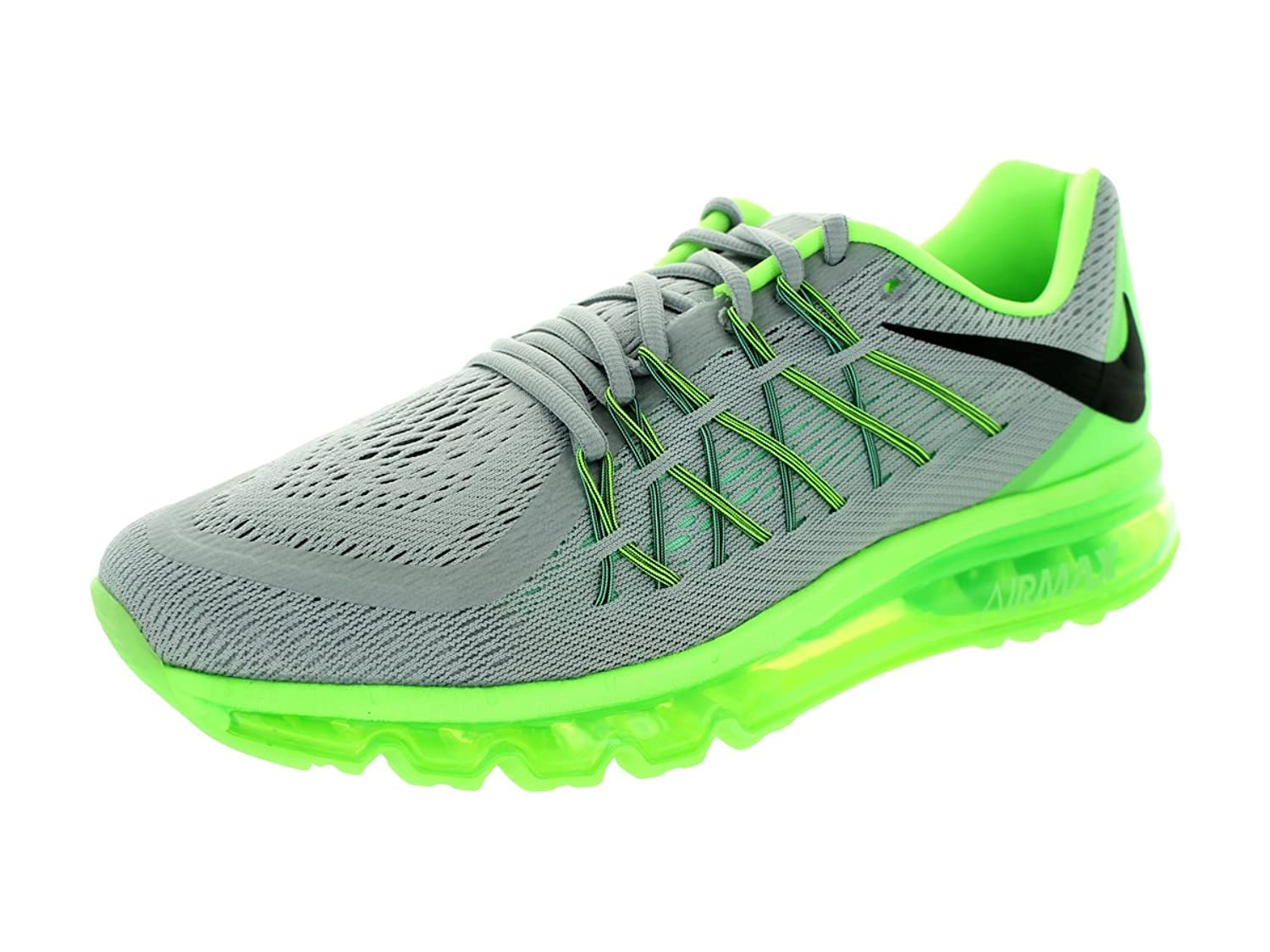 Amazon.com | Nike Men's Air Max 2015 Wolf Grey/Blk/Grn Glw/Flsh LM Running  Shoe 8 Men US | Running