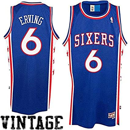 d6f05af3c Outerstuff Julius Erving Philadelphia 76ers #6 Blue Youth Throwback Soul Swingman  Jersey (Large 14