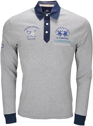 La Martina - Polo - Blusa - para Hombre Gris XXL: Amazon.es: Ropa y accesorios