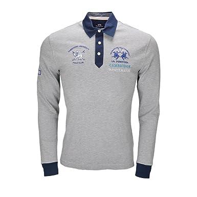 La Martina - Polo - Blusa - para Hombre Gris XXL: Amazon.es: Ropa ...