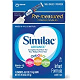 Similac Advance Infant Formula with Iron, Baby Formula, On-the-Go Powder Sticks, 9.76 oz (Pack of 4)