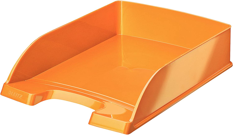 Leitz 46340044 Ordnungsmappe WOW 12 F/ächer orange metallic PP