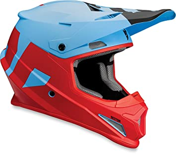 Thor Motocross Sector niveles Casco Motocross Casco Quad ATV Enduro Cross Casco Azul Rojo