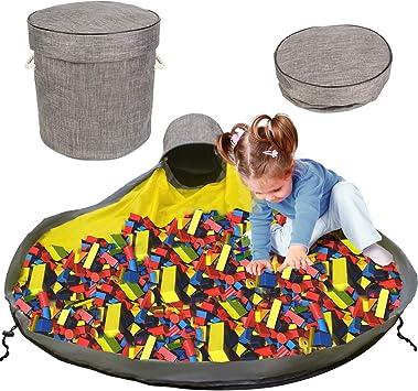 Armada Bolsa de almacenamiento para juguetes,Canasta de almacenamiento de juguetes,Bolsa de juguete,Alfombra de juguete para ni/ños,Bolsa de juguete grande