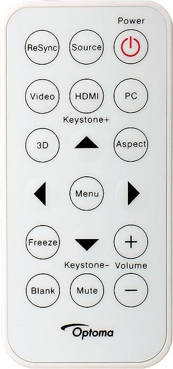 Optoma BR-1006N - Mando a Distancia (Proyector, Botones, Blanco ...