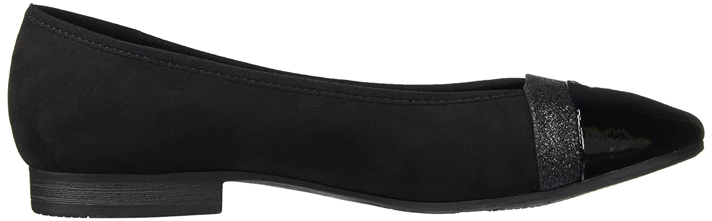 Softline Damen (schwarz) 22165 Geschlossene Ballerinas Schwarz (schwarz) Damen d57591