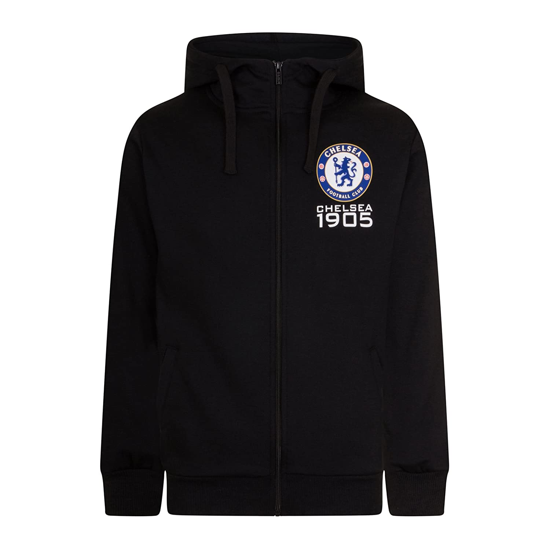 Chelsea FC Official Football Gift Mens Fleece Zip Hoody