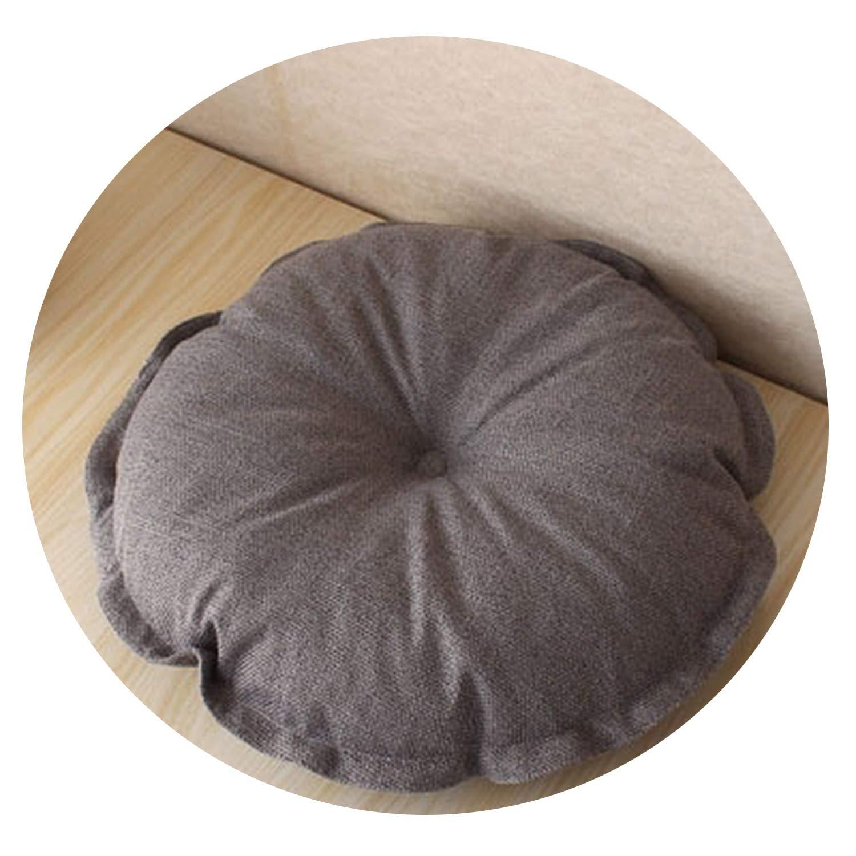 Seat Cushion New Cotton Linen Throw Pillows Floor Pouf Round Soft Chair Rural Style Futon Yoga Mat Tatami,2,70X70X20Cm
