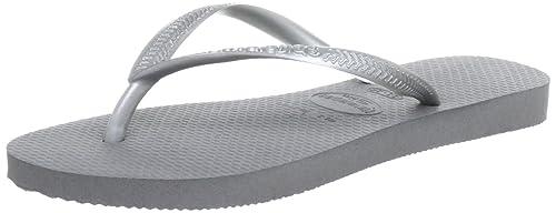 Havaianas Slim, Chanclas para Mujer, Gris (Grey/Silver 0982), 37