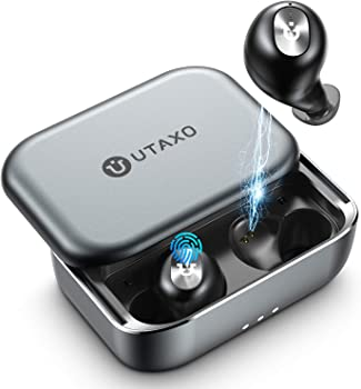 Utaxo In-Ear Bluetooth Earbuds with Charging Case
