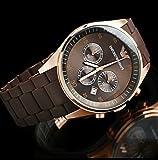 Emporio Armani AR-5891 Brown Luxury Women's Chronograph Wrist Watch Gift