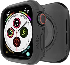 elkson Compatible with Apple Watch Series 6 SE 5 4 Bumper case Cover 40mm iwatch Quattro Series Cases Fall Protection Durable Military Grade Protective TPU Flexible Shock Proof Resist 40 mm Black