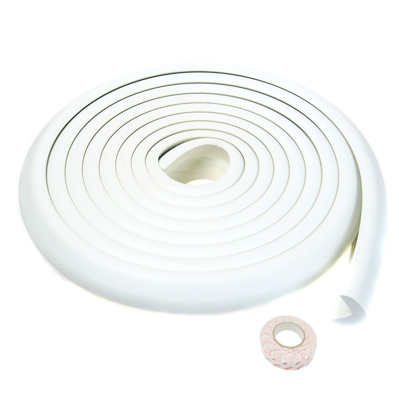 Blanco 8 Protectores Esquina Anti-golpe Suave Espuma Kits anticolisi/ón tira para seguridad Beb/és y ni/ños TUKA 5M Protector Borde TKD7000-set-white forma de L para Mesa Borde y Esquina
