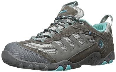 Hi-Tec Women's Penrith Low Waterproof Hiking Shoe, Steel Grey/Aqua,5