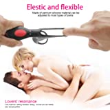 Massage Delay Ring for Men, Silicone Lock Ring