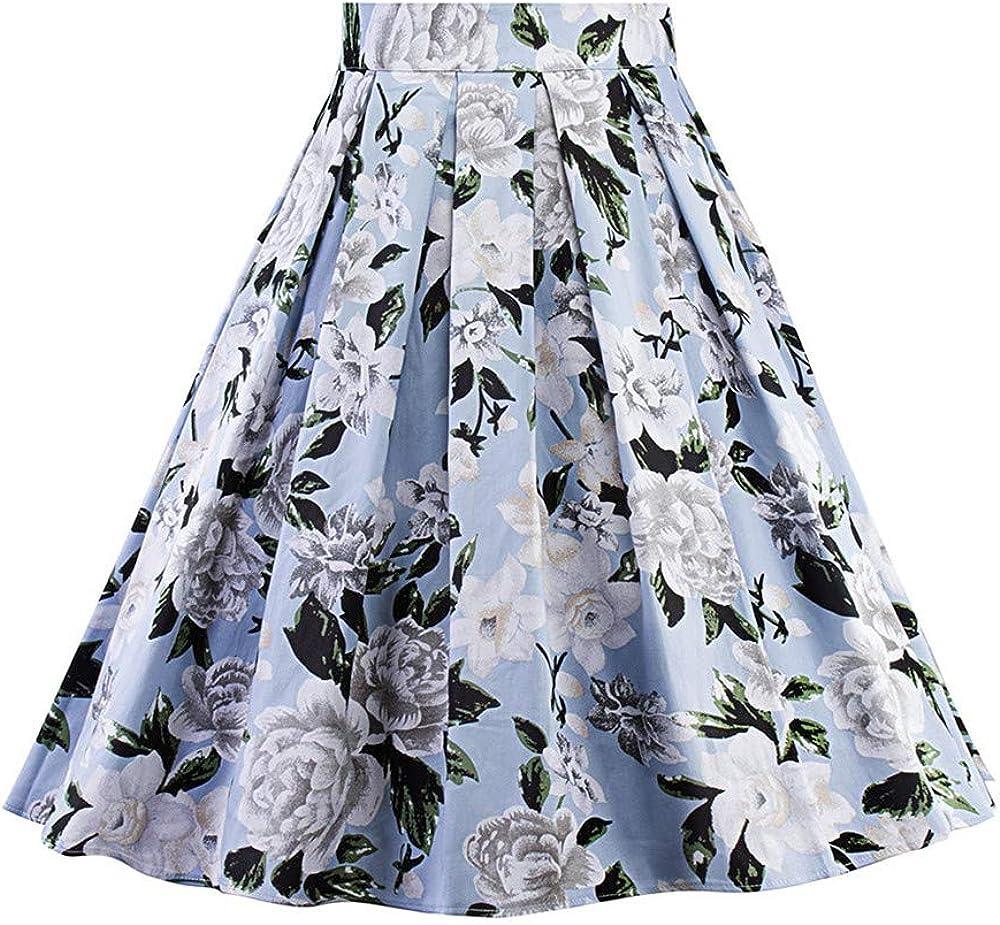FELZ Falda Mujer Falda Midi Mujer Vestido de la Mujer A-Line ...