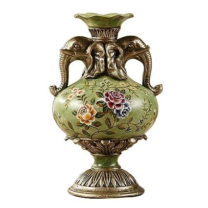 Amazon Retro Creative American Style Elephant Vase Living Room