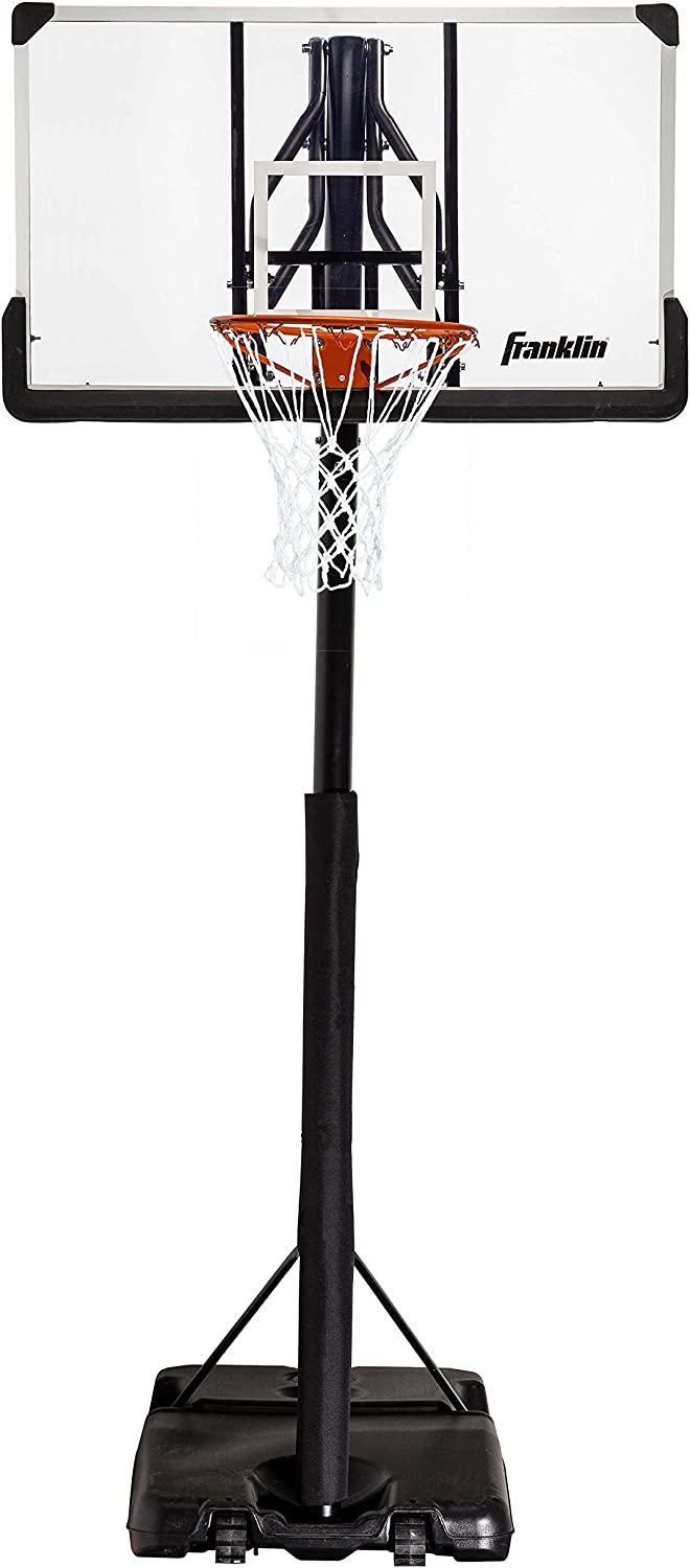 Franklin Sports Portable Basketball Hoop – Authentic Street Basketball Hoop for Adults and Kids – Adjustable Basketball Hoop with Rolling Mechanism