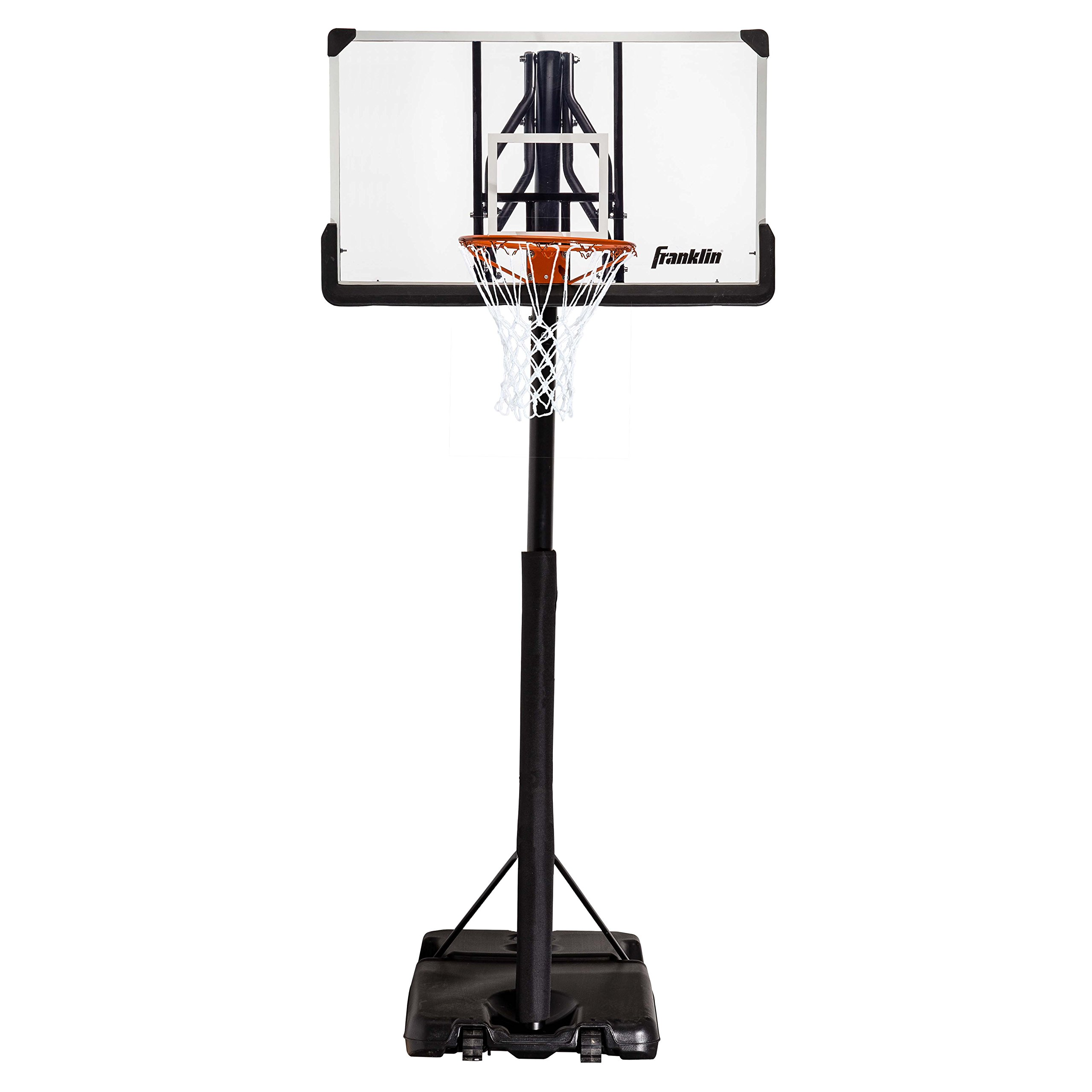 Franklin Sports Portable Basketball Hoop – Authentic Street Basketball Hoop for Adults and Kids – Adjustable Basketball Hoop with Rolling Mechanism – Play Basketball in Your Driveway
