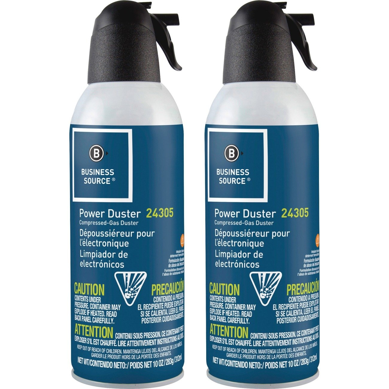 Compucessory Business Source 24302 Air Duster Cleaner Moisture-free/Ozone Safe 10 oz. 2/PK