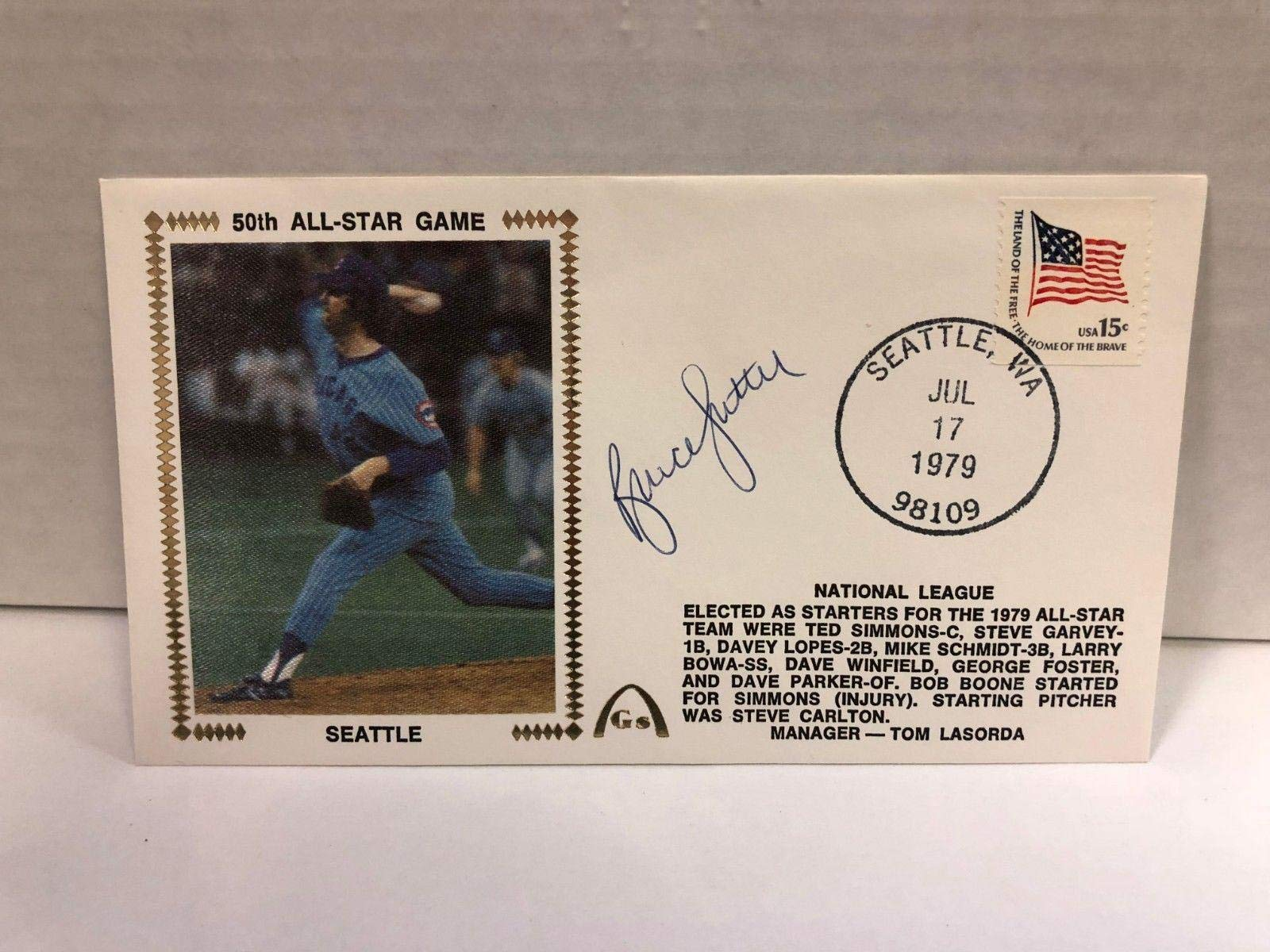 Bruce Sutter Autographed Signed Original Silk Cachet First Day Issue COA JSA Certified MLB Cut Signatures