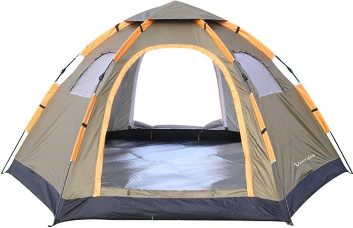 Tienda de Campaña Iglú Camping 4 Estaciones 5 Personas Ligera Impermeable UV Resistente para Acampada Senderismo y Turismo al Aire Libre