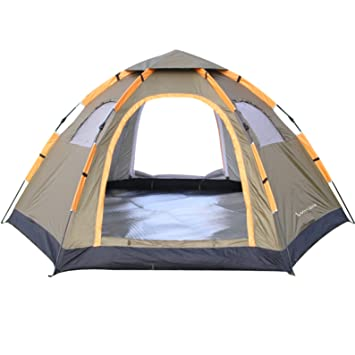 Wnnideo Automatic Instant Pop Up Tent Outdoor 4-6 Person Family Tent Waterproof for C&ing  sc 1 st  Amazon.com : 6 man instant tent - memphite.com