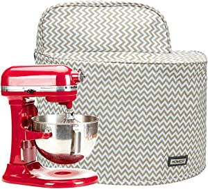 HOMEST Stand Mixer Dust Cover with Pockets Compatible with KitchenAid Bowl Lift 5-8 Quart, Ripple (Patent Pending)