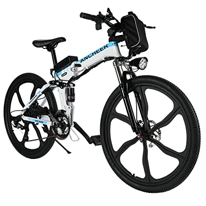 b883515f3ba ANCHEER Folding Electric Mountain Bike, 26'' Electric Bike with 36V 8Ah  Lithium-
