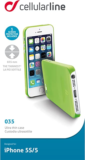 Amazon.com: Cellularline 035 Cover Case for Apple iPhone 5S/5