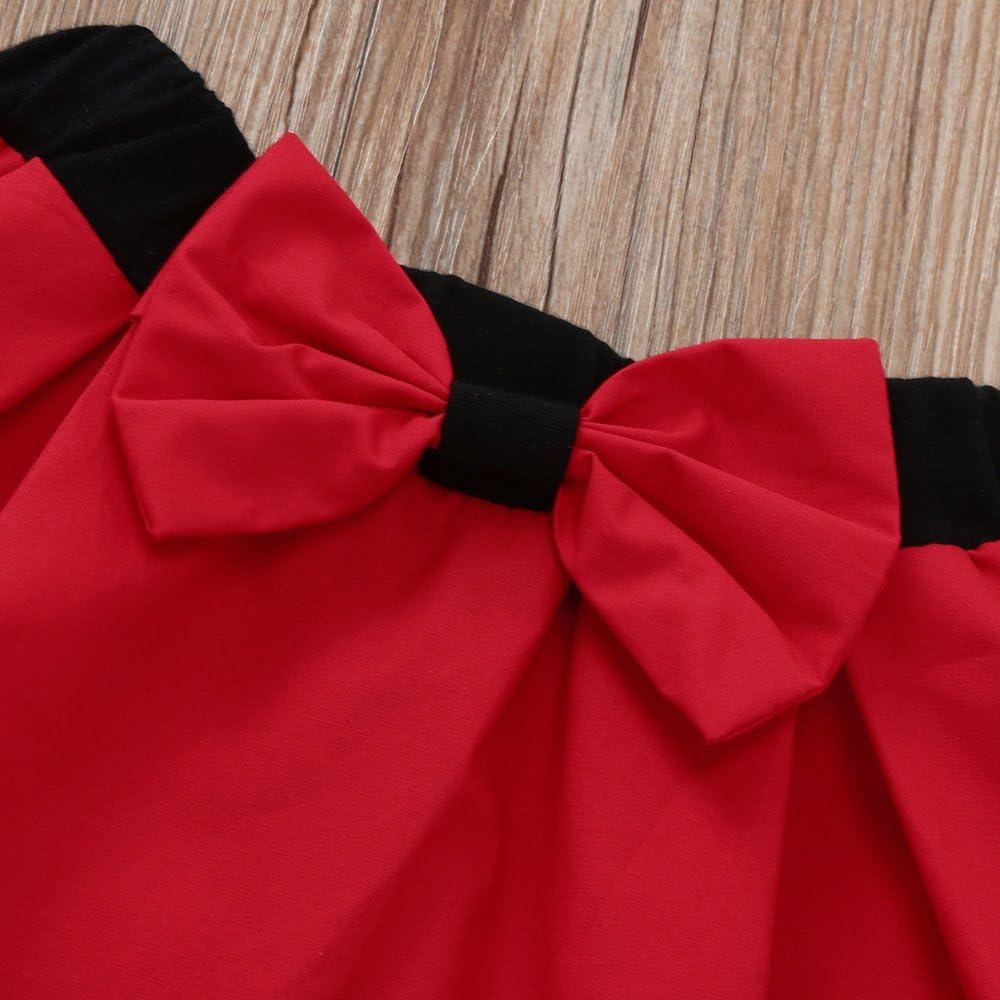 DWQuee Kleine M/ädchen Kleidungsset Volant Stickerei Rose Tops+R/öcke f/ür 1-5 Jahre