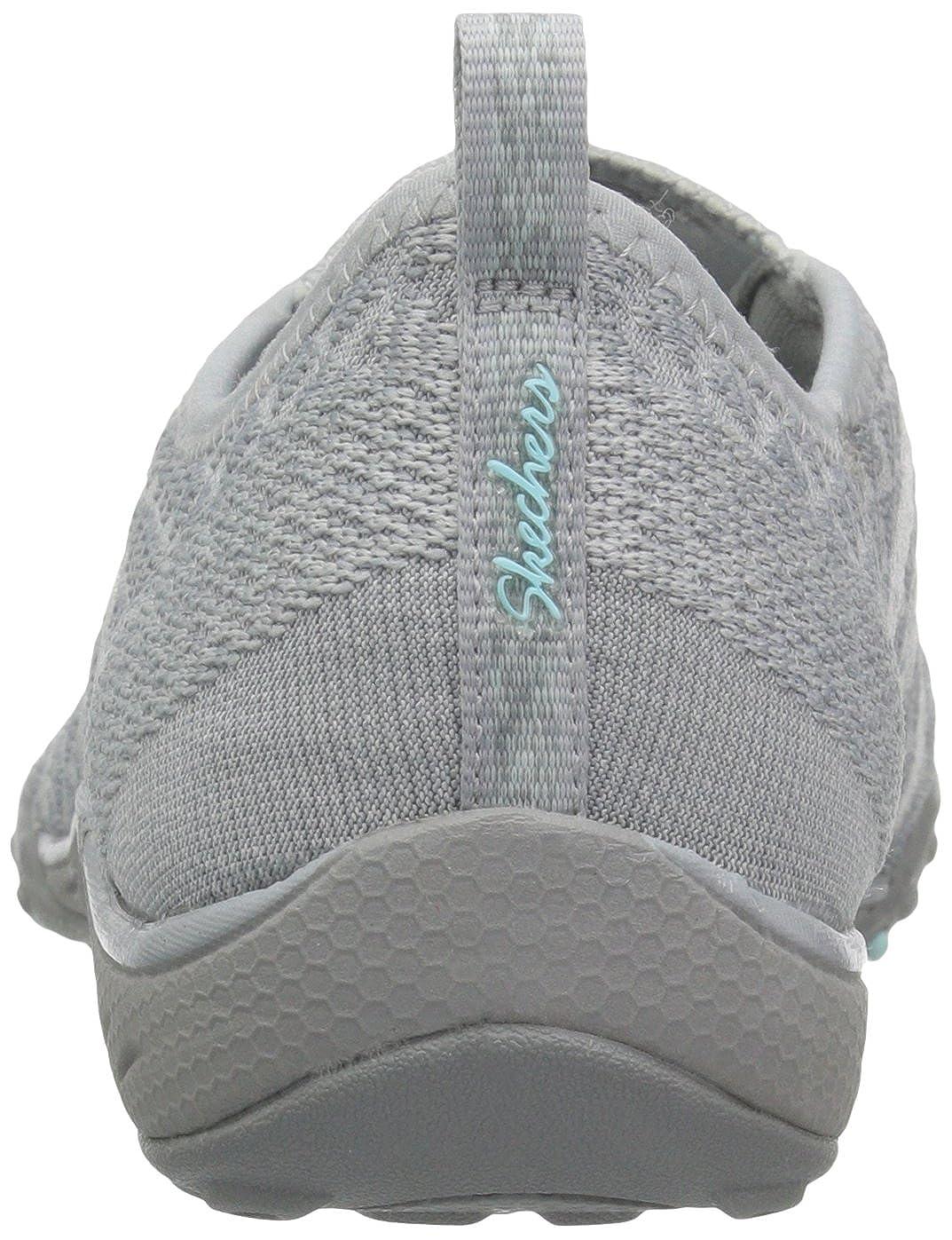 Skechers Breathe-Easy Fortune Fortune Fortune Damen Sneakers Grau Knit 4e9045