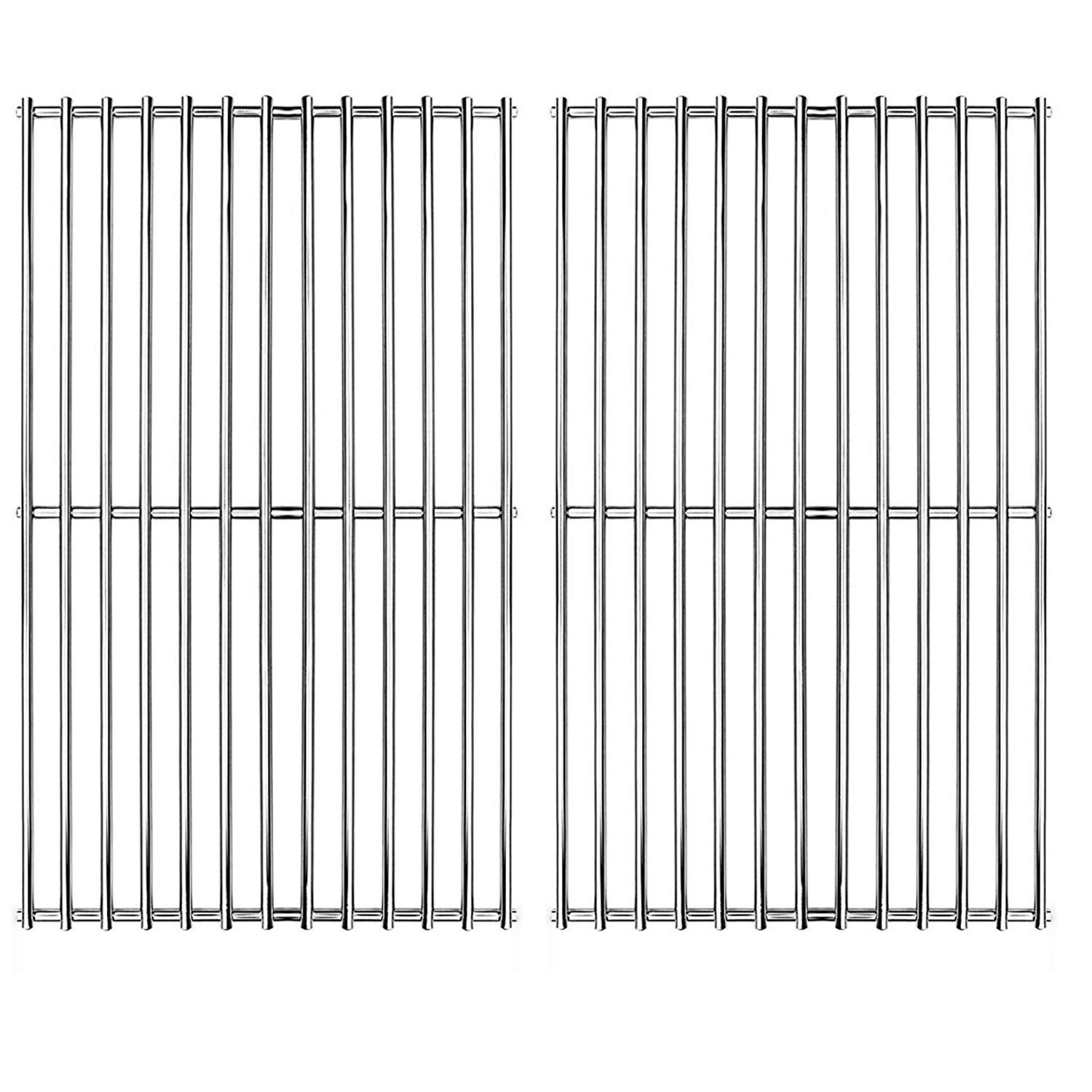 Hongso Stainless Grill Grate,SUS304,17 3/16 x 13 1/2 inch Each Cooking Grid Grate, for Grill Master 720-0697, Nexgrill and Uniflame Gas Grills (2 Pieces, SCI812) by Hongso