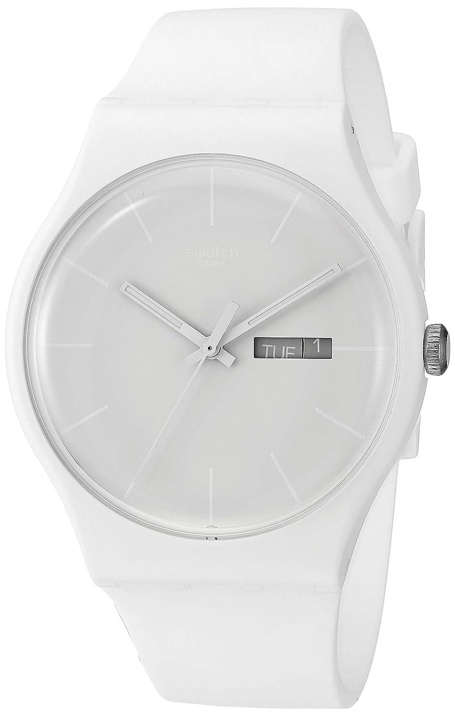 Amazon.com: Swatch Unisex SUOW701 Quartz Plastic White Dial Watch: Watches