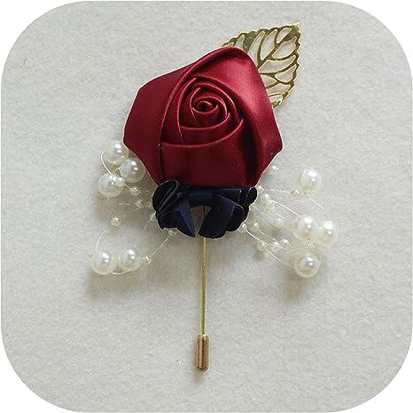 Badge-flowers brooch wedding