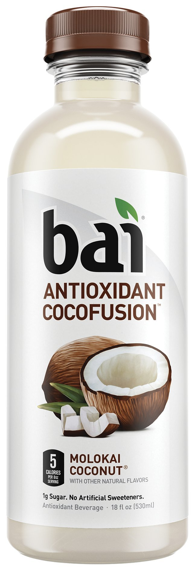 Bai Molokai Coconut, Antioxidant Infused, Coconut Flavored Water Drink, 18 Fluid Ounce Bottles, 12 count
