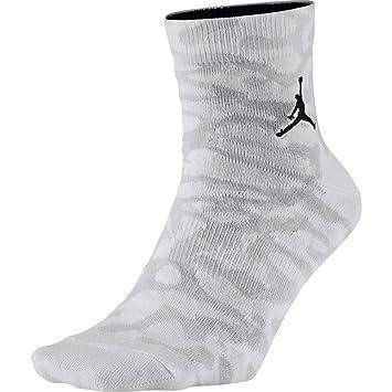 Jordan Calcetines – Elephant Quarter Color Blanco/Gris/Negro Tamaño:, Hombre,