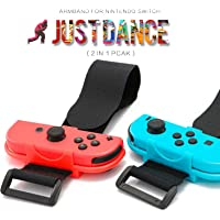 KING UP wrist bands for Nintendo Switch Compatible with Nintendo Switch Just Dance Game - Blue and Red (Fit for Thin…