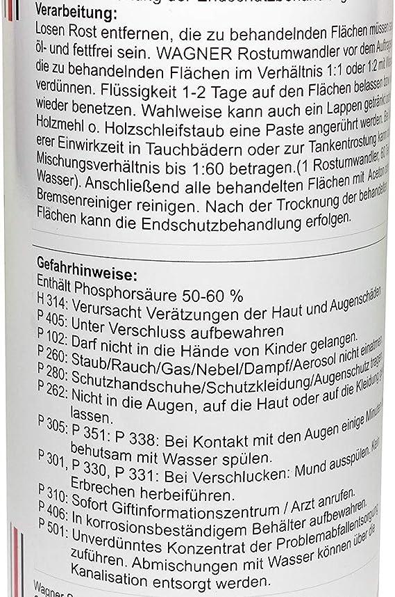 Wagner Phosphatierender Rostumwandler 073001 1 Liter Auto