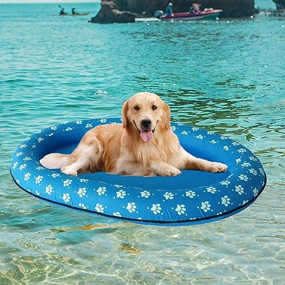 soundwinds - Cama Hinchable Flotante para Perro o Piscina, Juguete para Perros y Gatos: Amazon.es: Hogar