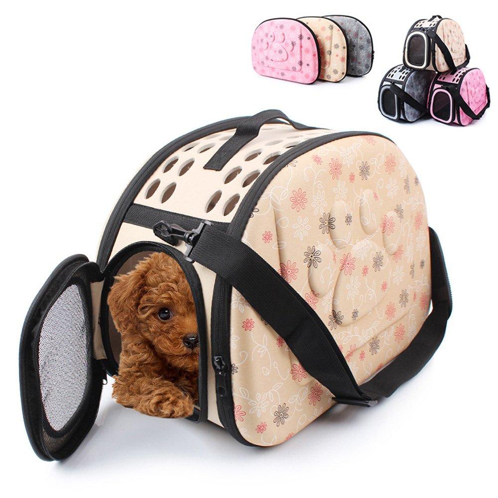 perros y otras mascotas para gatos Transport/ín para mascotas de PUAO goma EVA apto para viajar en avi/ón port/átil plegable y c/ómodo