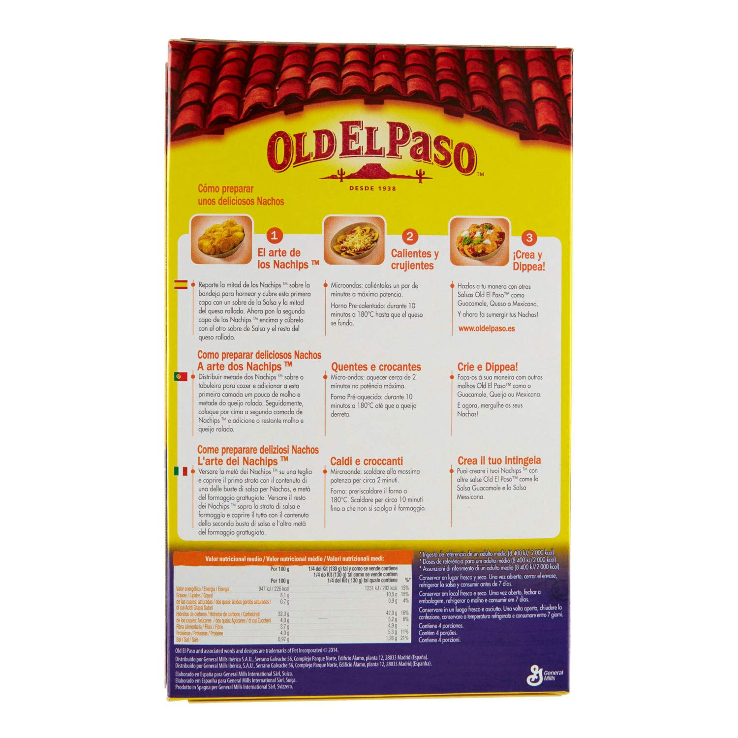 Amazon.com : Old El Paso - Original Nachos - 520g : Grocery & Gourmet Food